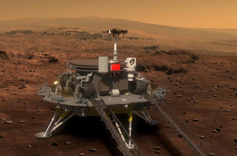 Космический аппарат Китая успешно проводит миссию на Марсе